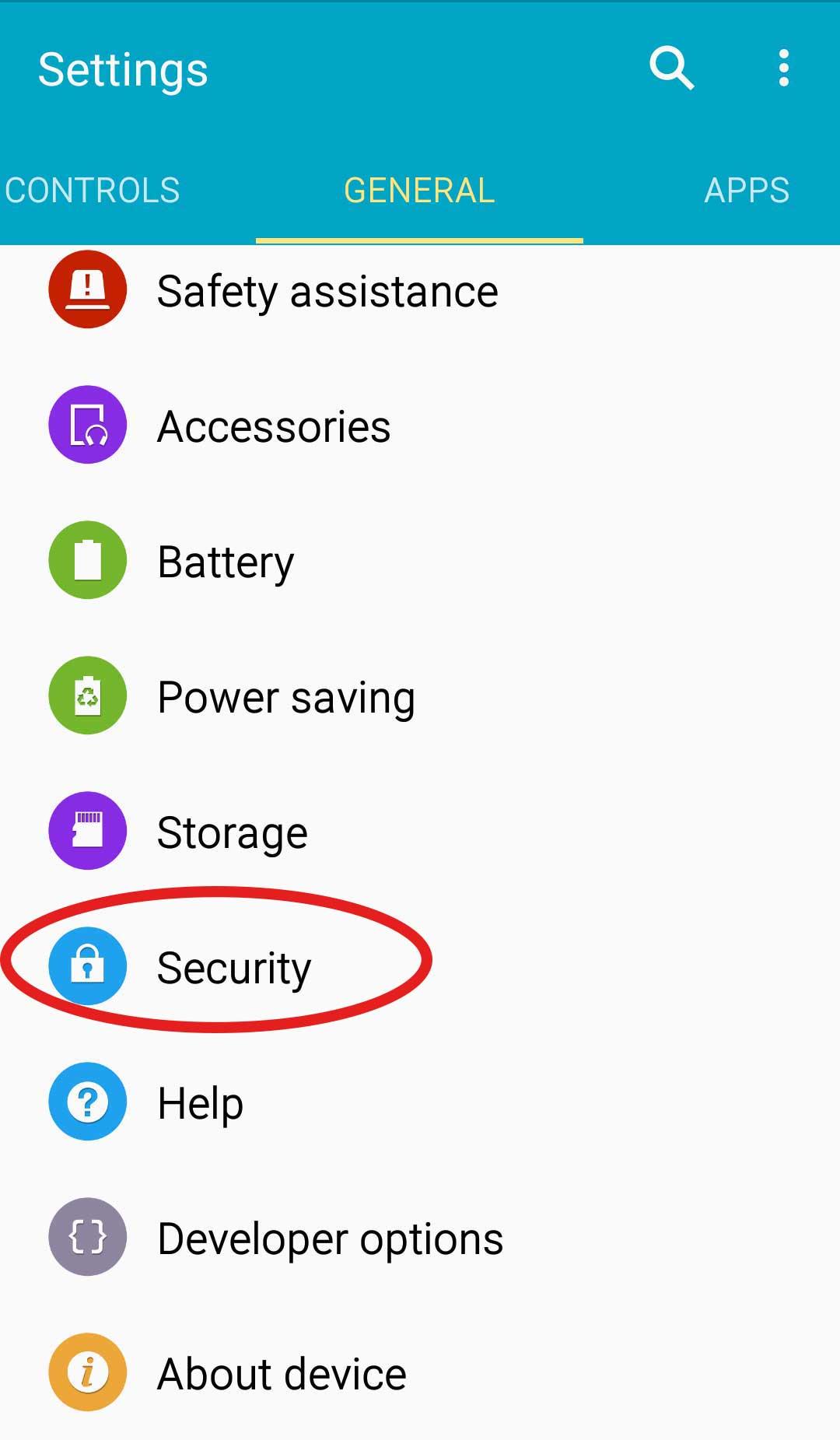Secuirty settings